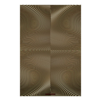 Metal on Sage Green Optical Illusion Wall Art Lge