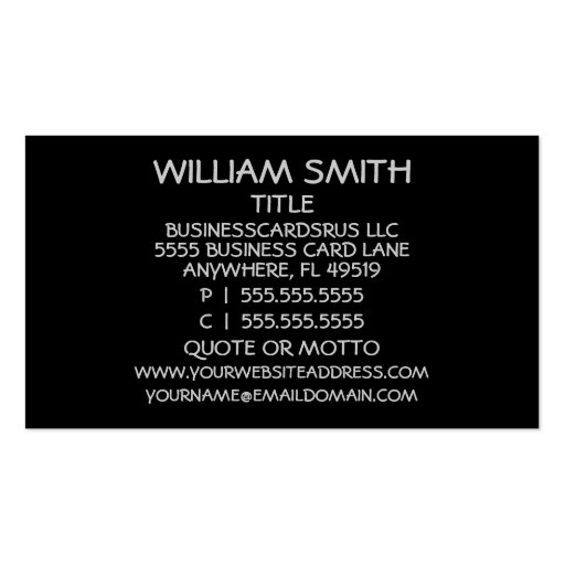 Metal Orthodontist Business Card (back side)