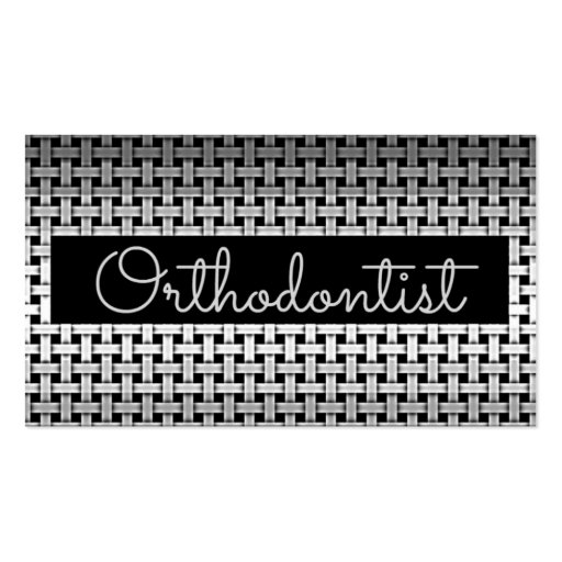 Metal Orthodontist Business Card (front side)