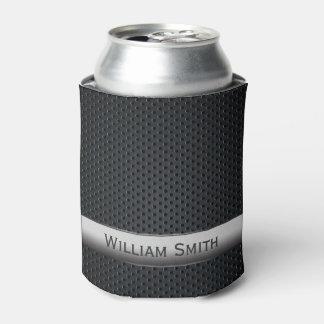 Metal oscuro rayado de acero enfriador de latas