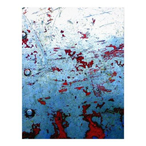 Metal oxidado azul plantillas de membrete