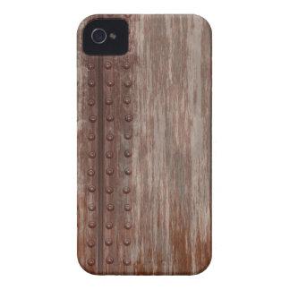 Metal oxidado clavado sucio Case-Mate iPhone 4 fundas