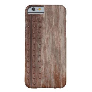 Metal oxidado clavado sucio funda para iPhone 6 barely there