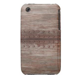 Metal oxidado clavado sucio iPhone 3 Case-Mate fundas