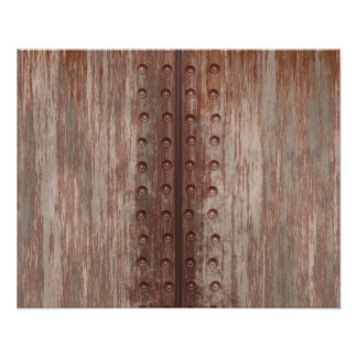 Metal oxidado clavado sucio impresiones fotográficas