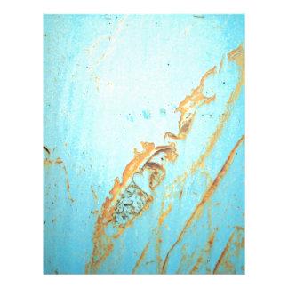 """Metal oxidado con una grieta del azul folleto 8.5"""" x 11"""""""