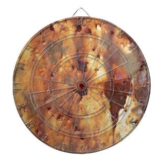 Metal oxidado tablero de dardos
