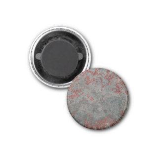 Metal oxidado viejo texturizado imán redondo 3 cm