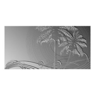 Metal Palms Photo Cards