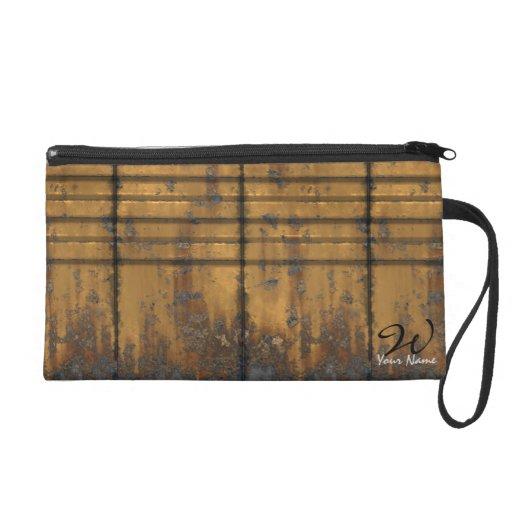 Metal Panels 1 Wristlets Bag