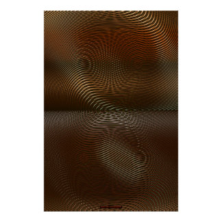 Metal Panels on Copper Optical Illusion Wall Art