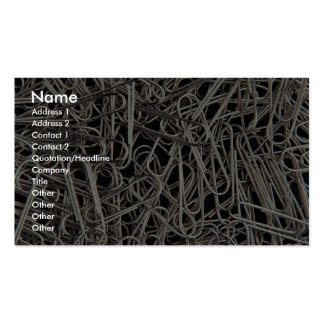 Metal paper clips business card template