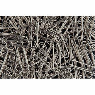 Metal paper clips photo sculpture