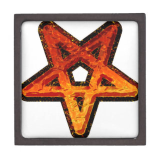 Metal Pentagram Jewelry Box