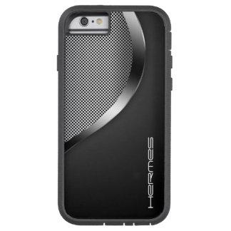 metal perforado brillante personalizado por nombre funda de iPhone 6 tough xtreme