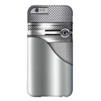 Metal perforado del monograma de la malla de alta funda barely there iPhone 6
