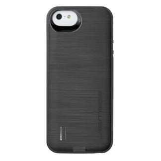 metal perforado elegante oscuro personalizado por funda con bateía para iPhone SE/5/5s