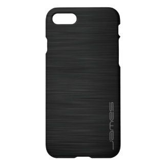 metal perforado elegante oscuro personalizado por funda para iPhone 7
