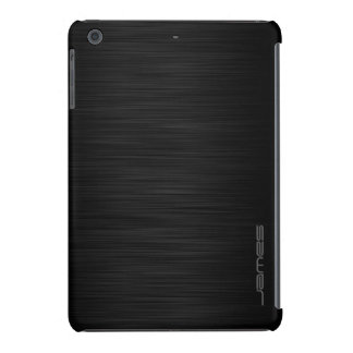 metal perforado elegante oscuro personalizado por fundas de iPad mini retina
