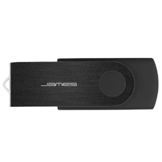 metal perforado elegante oscuro personalizado por memoria USB 3.0 giratoria
