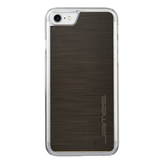metal perforado elegante oscuro por nombre funda para iPhone 7