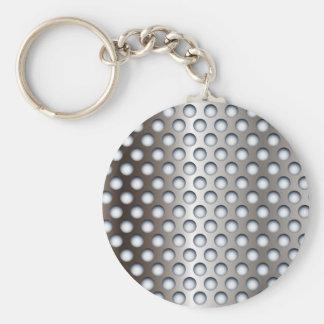 Metal perforado llaveros personalizados
