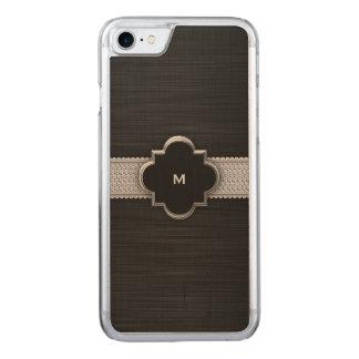 metal perforado negro con los diamantes y el funda para iPhone 7