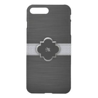 metal perforado negro con los diamantes y el fundas para iPhone 7 plus