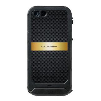 metal perforado oscuro con nombre carcasa de iphone 5 incipio atlas id