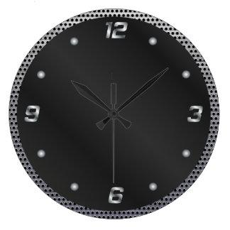 Metal perforado reloj redondo grande