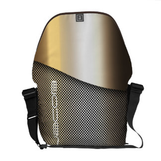 metal perforated sheet personalized by name messenger bag
