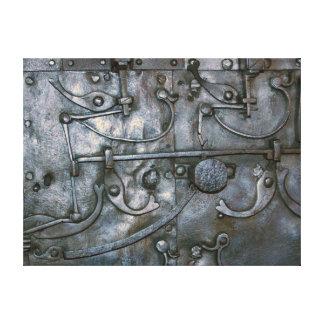 Metal pesado del hierro del Grunge Lona Envuelta Para Galerías
