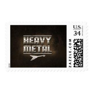 """""""Metal pesado """" Estampilla"""