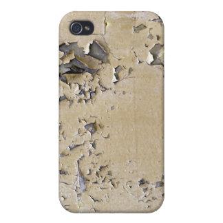Metal pintado saltado texturizado iPhone 4 carcasas