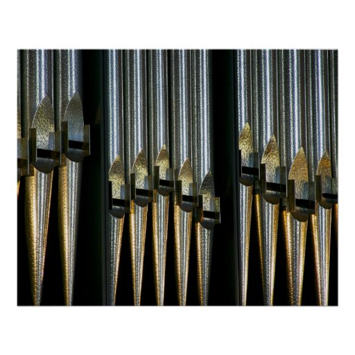 Metal pipes poster