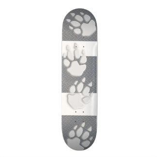 "Metal Plate and Paw 7¾"" Skateboard"