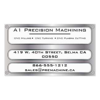 Metal Plate and Rivets - Silver Business Card Templates
