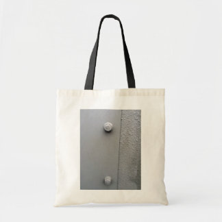 Metal Plate Bolted To Wall Tote Bag