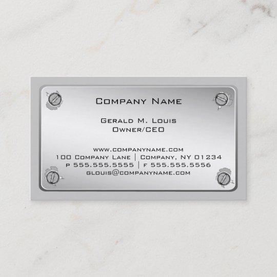 Metal plate construction business cards zazzle metal plate construction business cards reheart Gallery