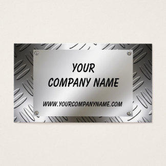 Metal Plate With Screws Business Cards