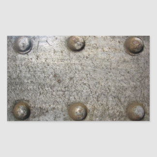 Metal Plate With Screws Rectangular Sticker