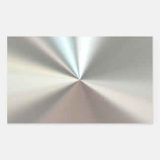 Metal plateado artístico rectangular altavoces