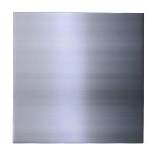 Metal plateado cepillado texturizado azulejo cerámica