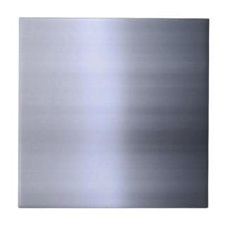 Metal plateado cepillado texturizado azulejo cuadrado pequeño