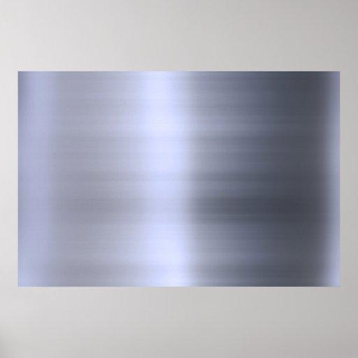 Metal plateado cepillado texturizado póster