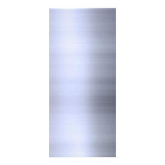 Metal plateado cepillado texturizado tarjeta publicitaria personalizada