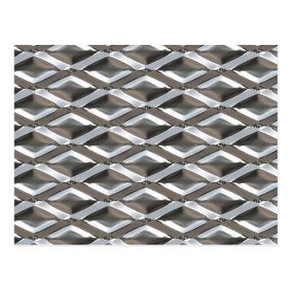 Metal plateado cromo de forma diamantada inconsúti tarjeta postal