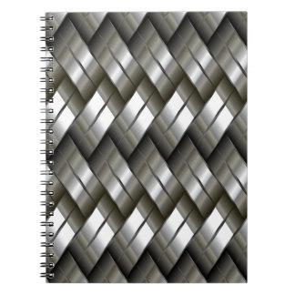 Metal plateado notebook