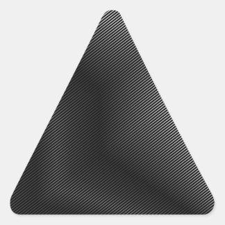 Metal plateado del alto grado pegatina triangular