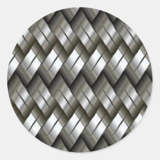 Metal plateado pegatinas redondas